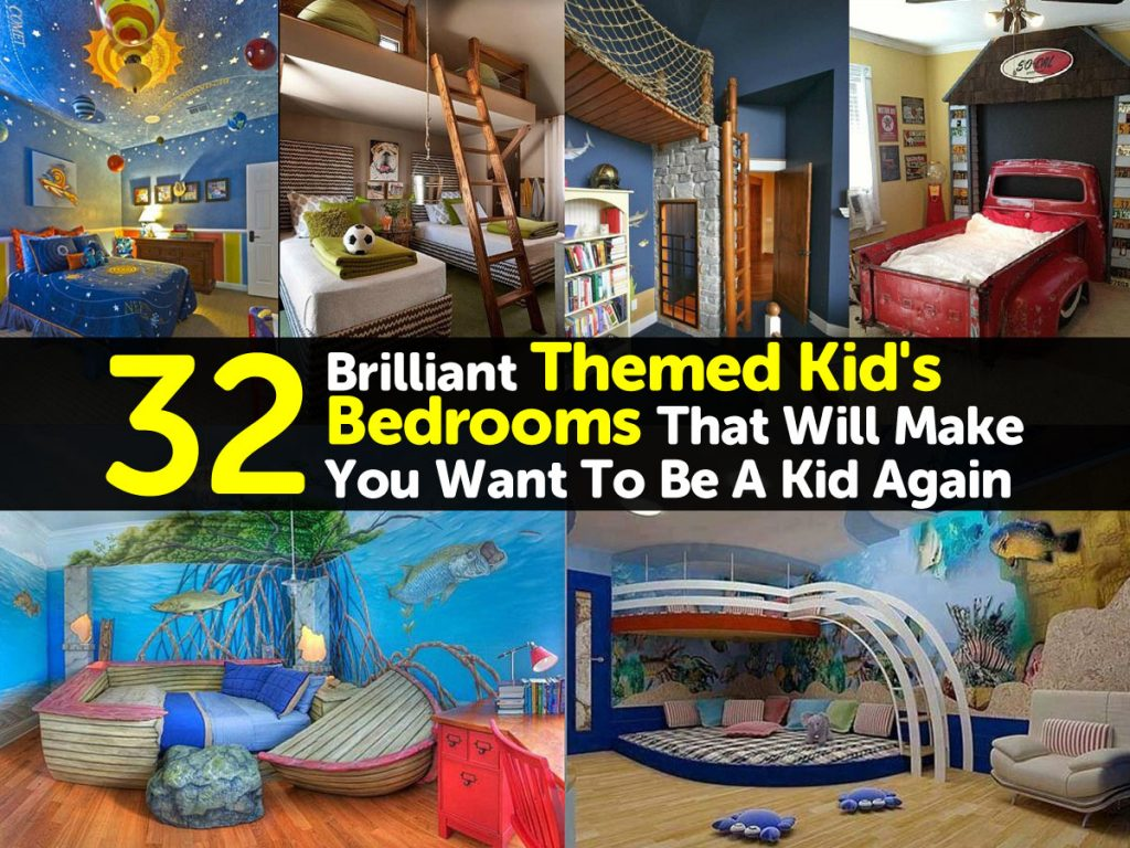 32 Brilliant Themed Kid's Bedrooms That Will Make You Want ...