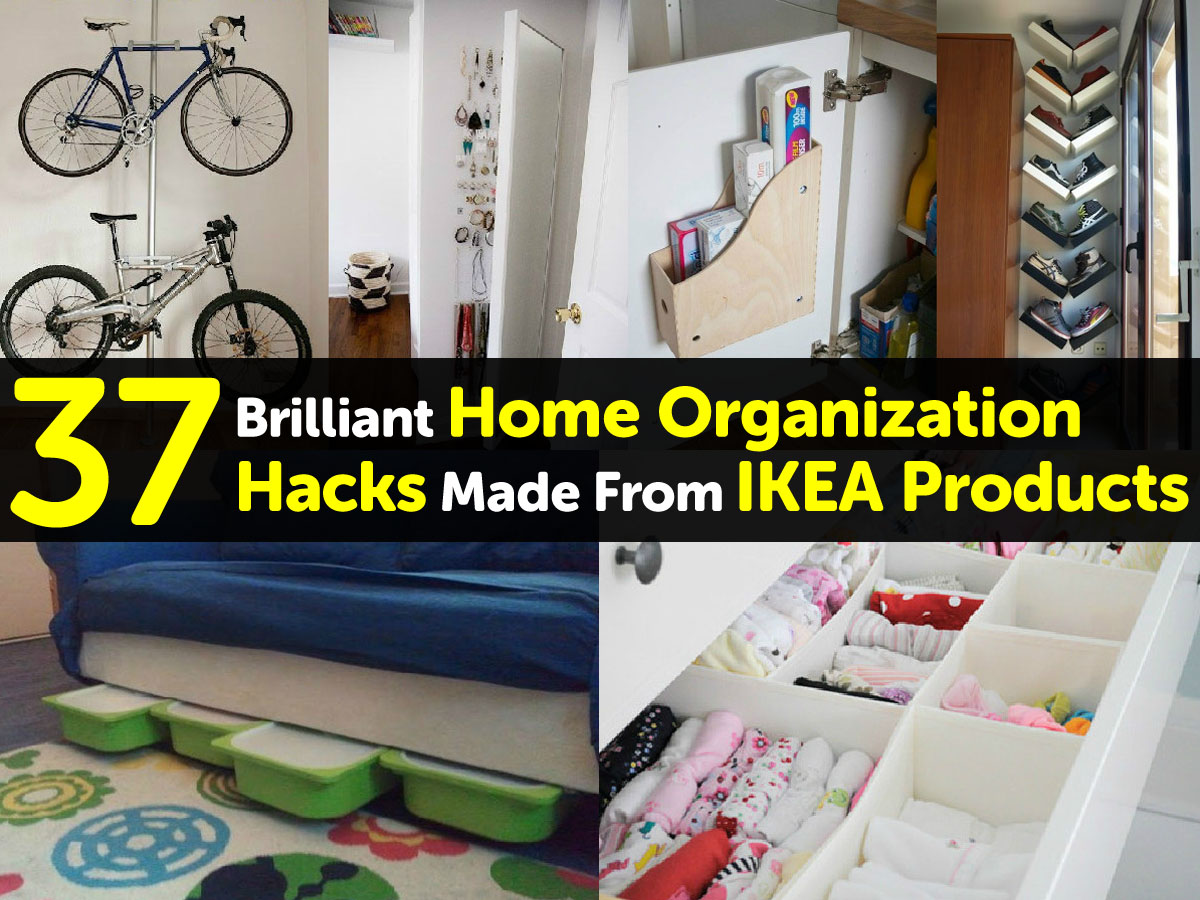 37 brilliant home organization hacks made from ikea products. Black Bedroom Furniture Sets. Home Design Ideas