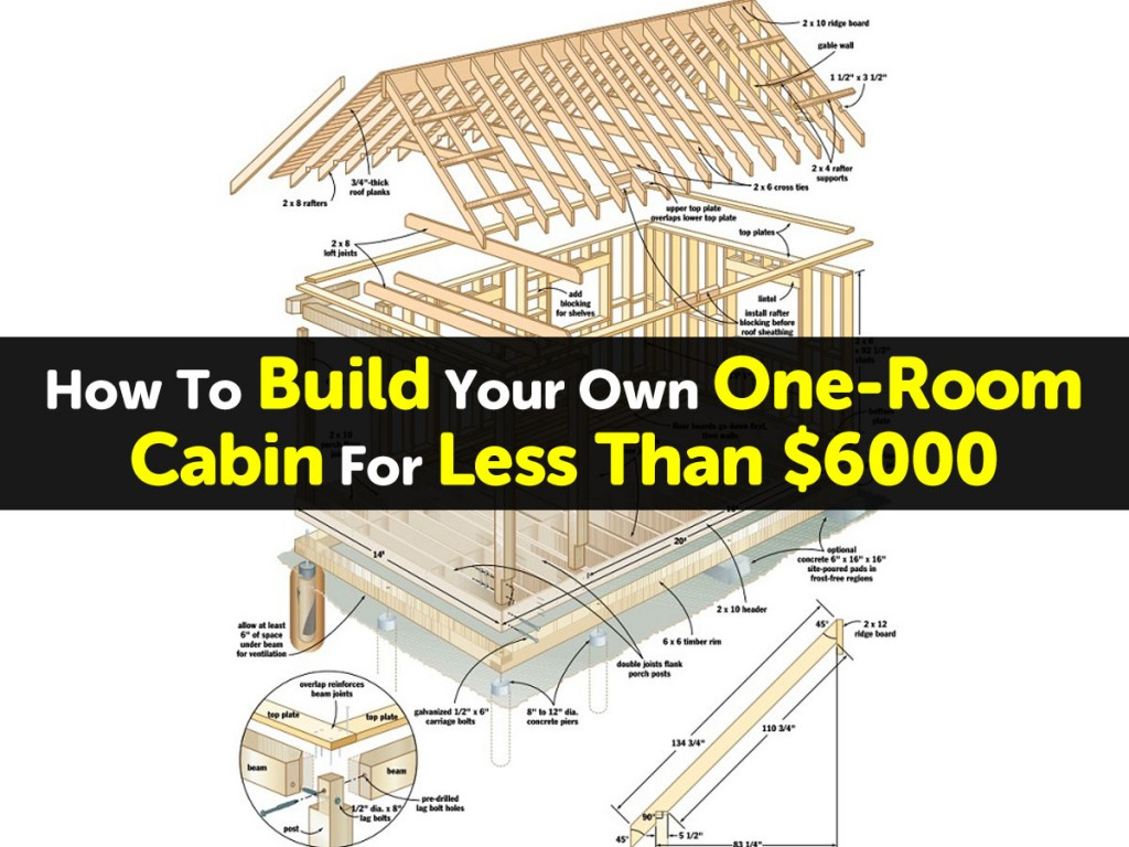 How To Build Your Own One-Room Cabin For Less Than $6000