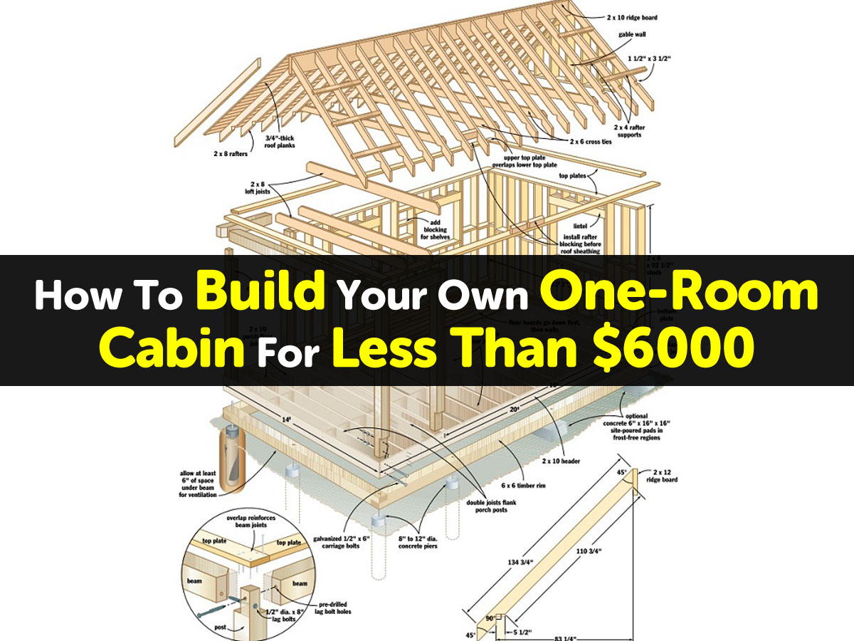 How to build your own one room cabin for less than 6000 for How to build a one room cabin