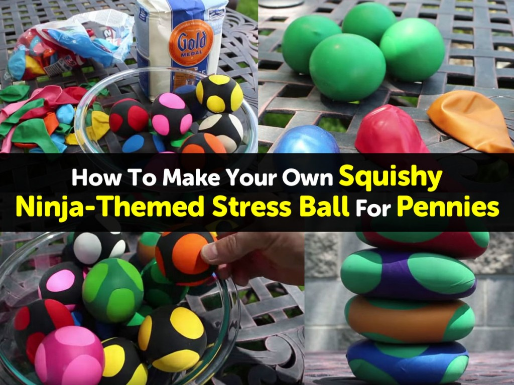 How To Make Your Own Squishy Ninja Themed Stress Ball For