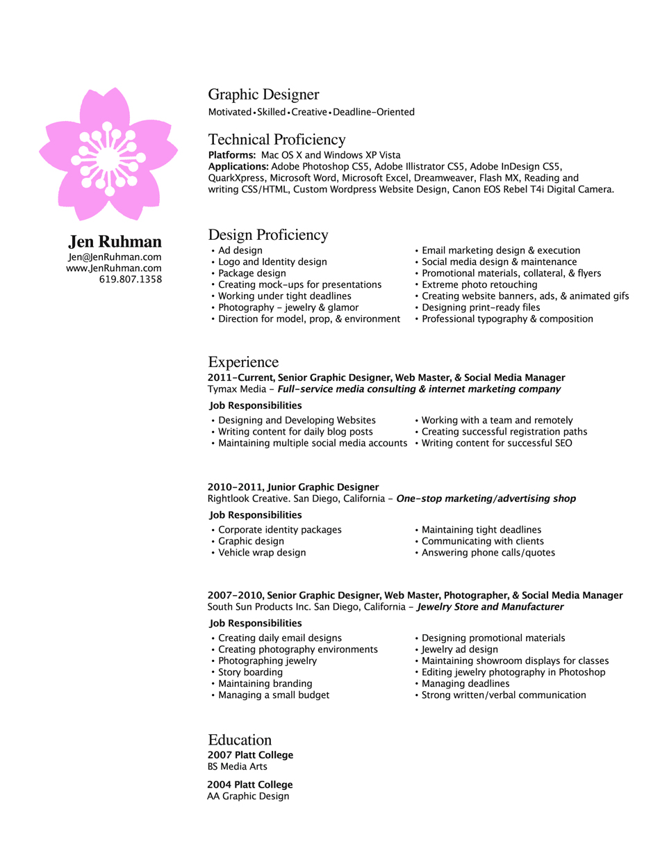 graphic design resume layout 30042017