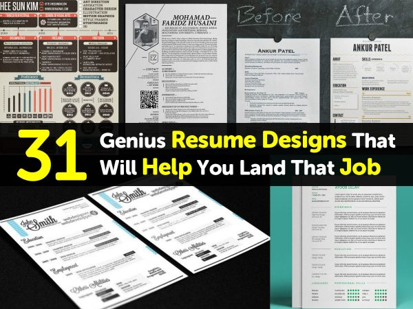 31 Genius Resume Designs That Will Help You Land That Job