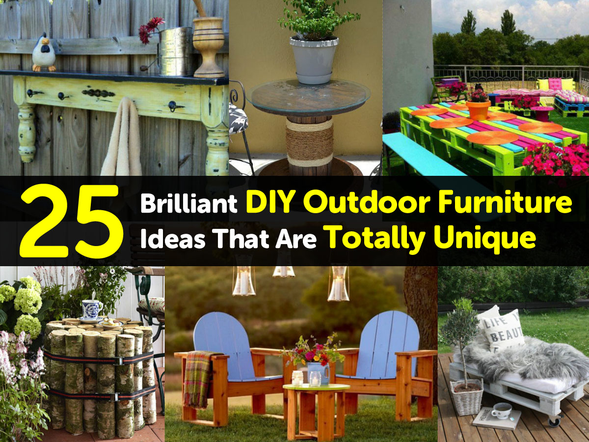 25 brilliant diy outdoor furniture ideas that are totally for Homemade patio furniture ideas