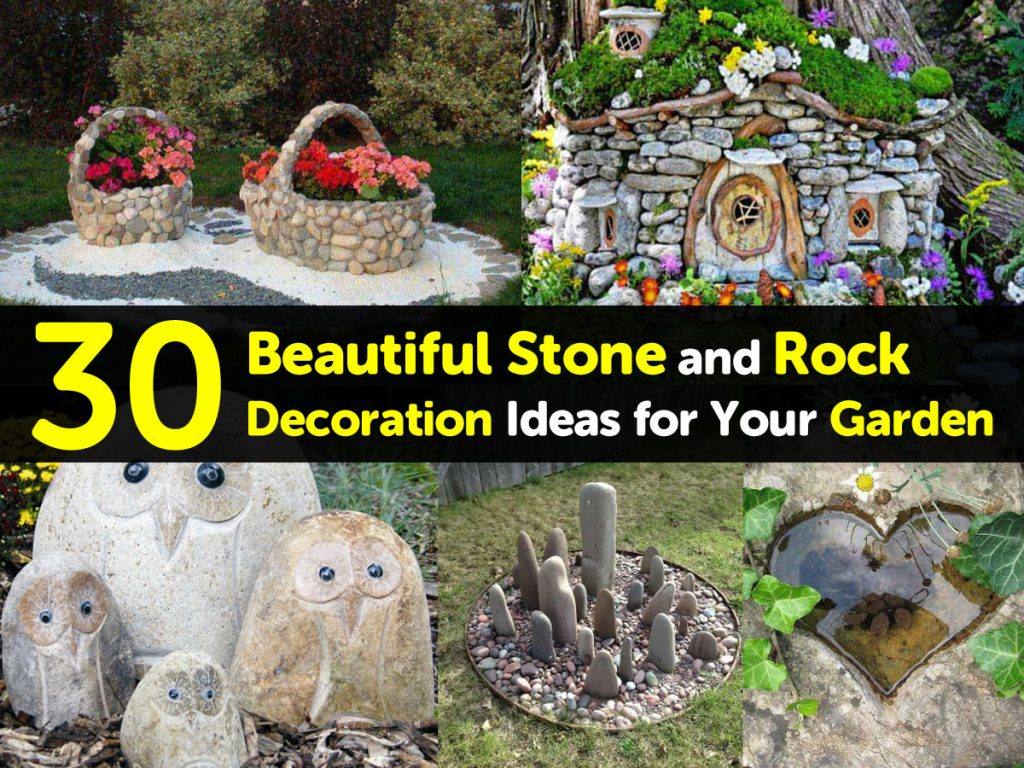 30 beautiful stone and rock decoration ideas for your garden for Garden decoration ideas