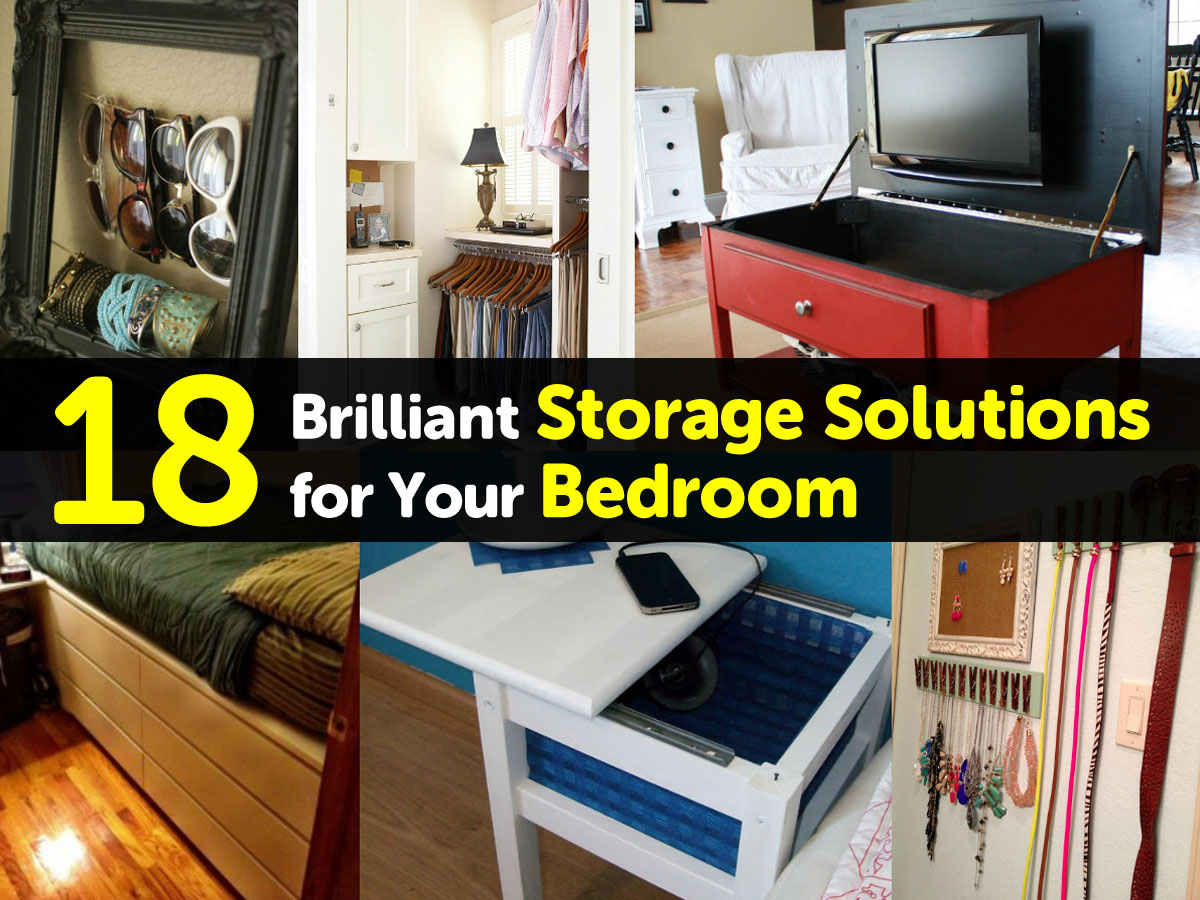 18 brilliant storage solutions for your bedroom - Small space storage solutions for bedroom ...