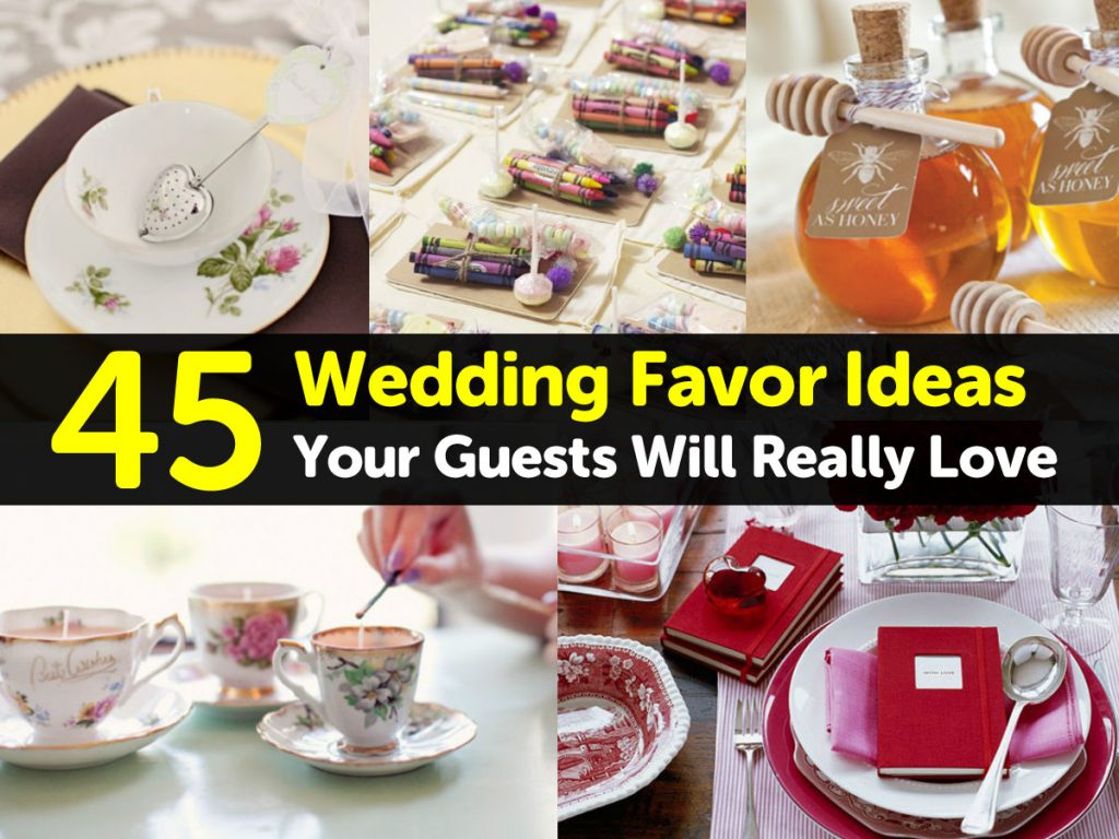 Wedding Favors Ideas For Guests : 45 Wedding Favor Ideas Your Guests Will Really Love