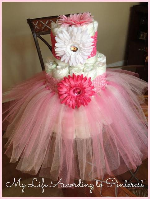 How To Make A Princess Tutu Diaper Cake
