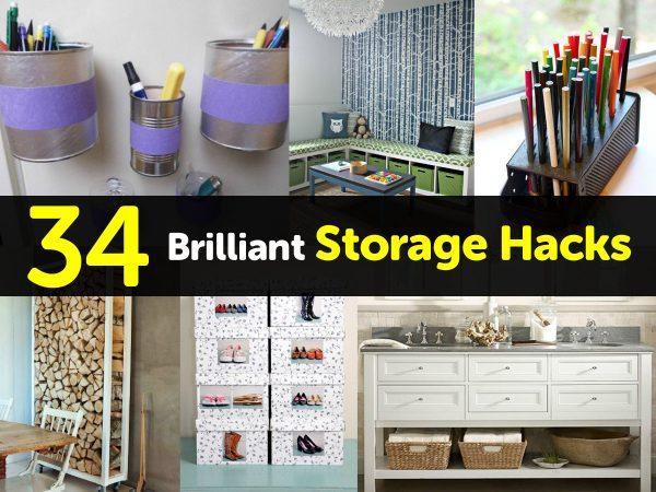 34 Brilliant Storage Hacks