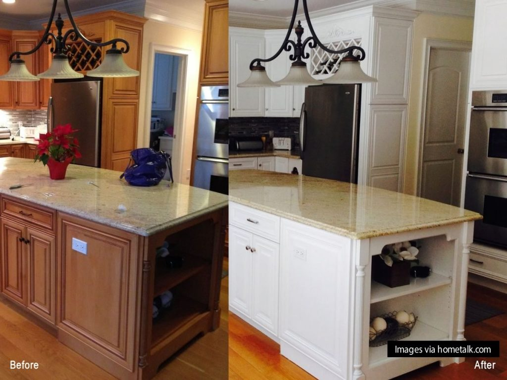 12 clever ideas for your next kitchen renovation for Before and after kitchen cabinets painted
