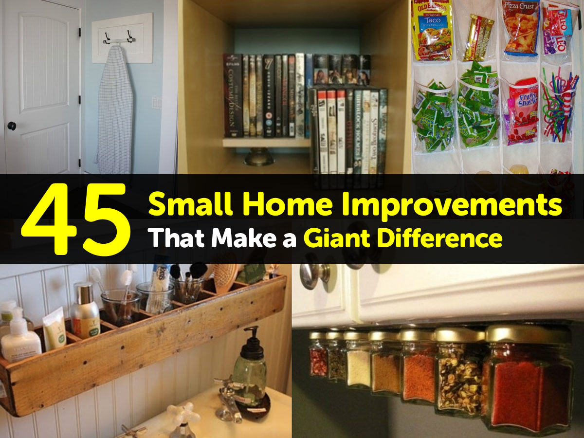 Small home improvements that make a big difference 28 for A to z home improvements