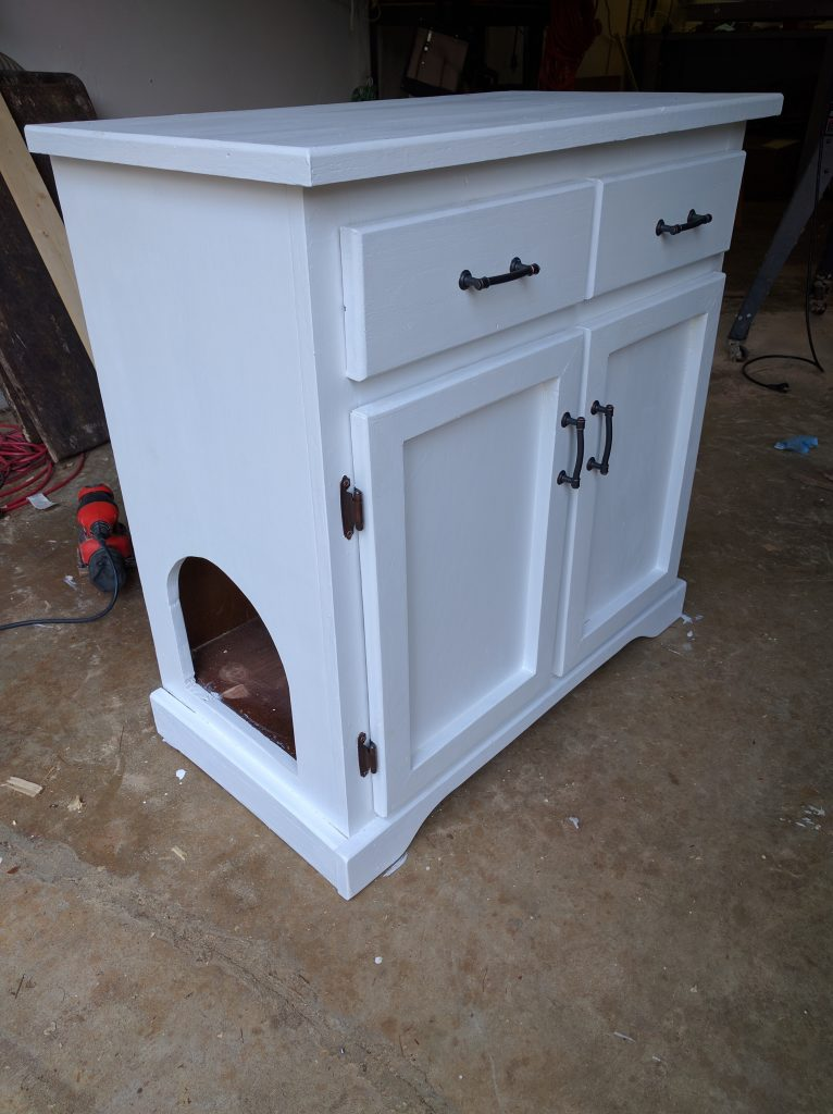 How To Turn An Old Cabinet Into The Perfect Cat Litter Box